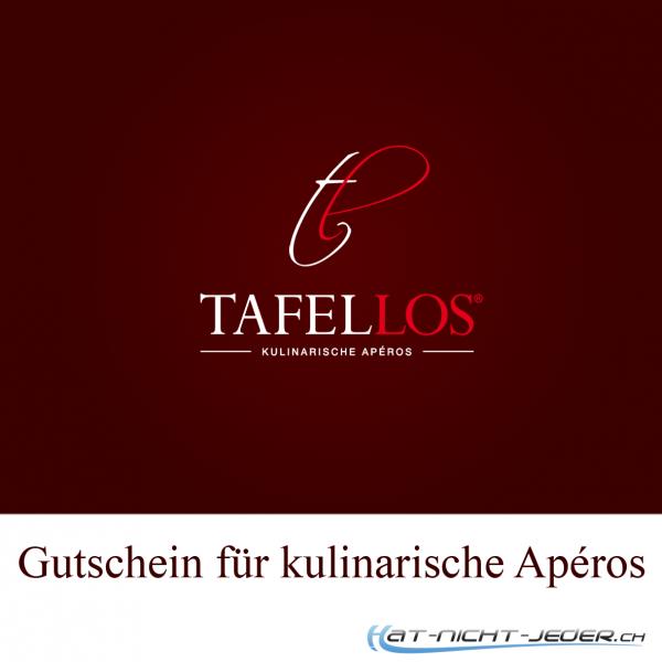 Gutschein Tafellos Apéros über CHF 50.- erhältlich bei hat-nicht-jeder.ch